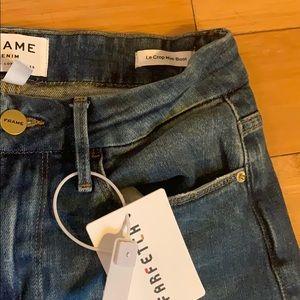 Frame Denim Jeans - Frame Denim le Crop Mini Boot Scallop Hem NWT 25
